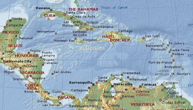 Caribbean Sea Map Most Beautiful Beaches Of The World Things I