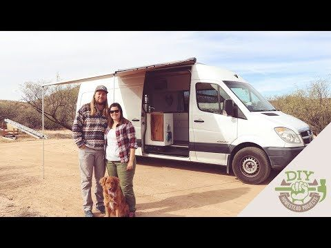 Couple Sells Everything Builds DIY Stealth Sprinter Van