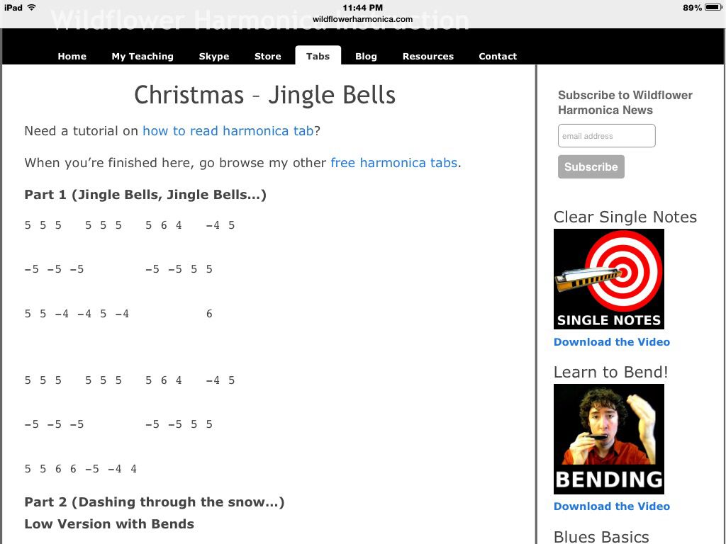 Christmas songs. 15 SONGS. And harmonica tabs Silent night The first ...