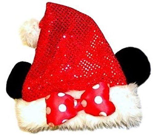 b1d207855e9e0 Disney Park Christmas Red Bling Minnie Mouse Ears Sa...