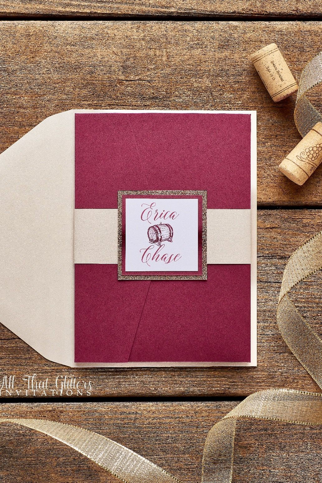 Erica | Merlot wedding, Burgundy wedding invitations and Wedding
