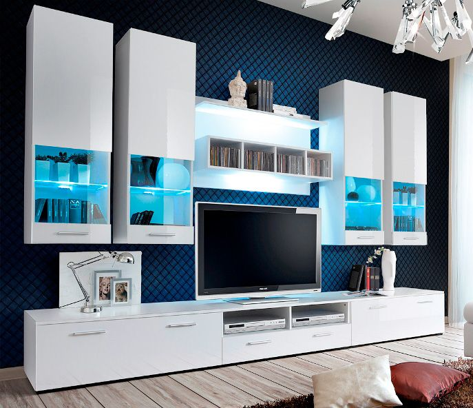 Montreal 1 White Wall Unit With Images Living Room Wall Units Living Room Sets Furniture Modern Tv Wall Units