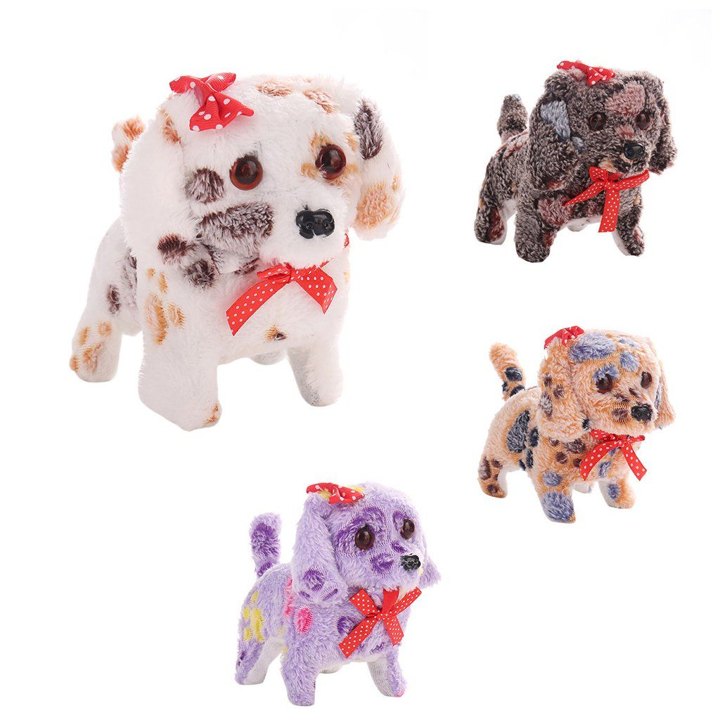 Haaywardcute Animal Toy Plush Dog Electric Battery Operated