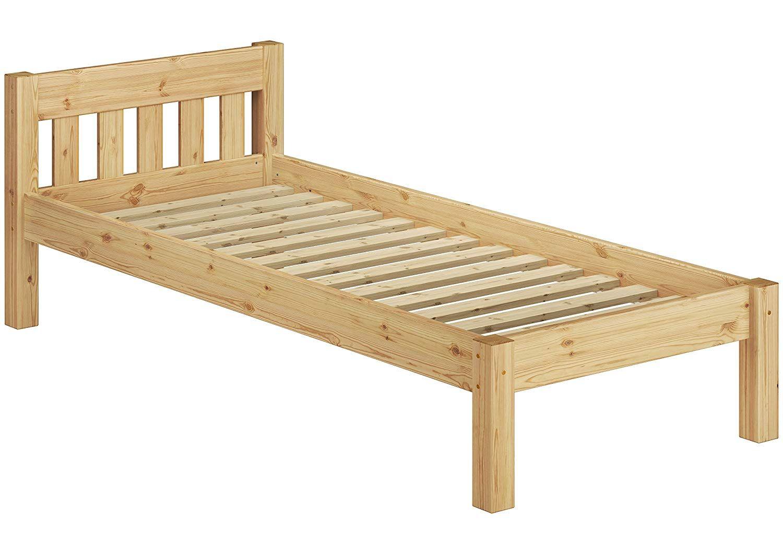 Idea Erst Holz 60 38 10 Einzelbett Mit Rollrost 100x200 Massivholz Natur In 2020 Bett Massivholzbett Rustikale Schlafzimmermobel