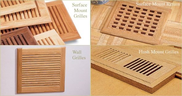 Wall Mount Register Covers Wooden Wall Vent Covers