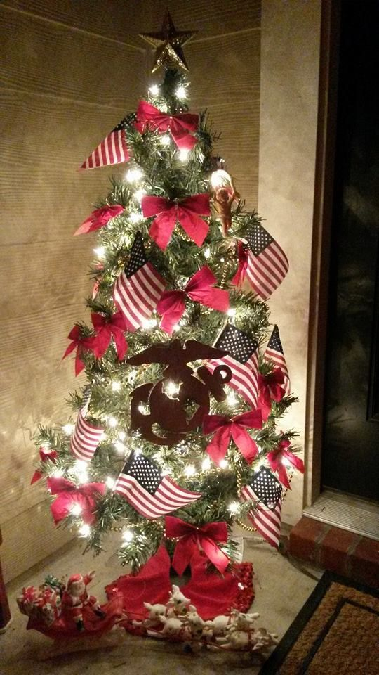 A Christmas Tree Salute! 15 of YOUR Patriotic Christmas Trees In One