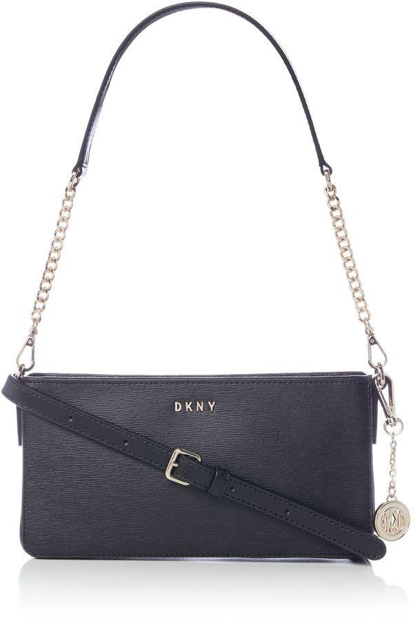 cb798150c59 DKNY Sutton Chain Small Shoulder Zip Cross Body Bag
