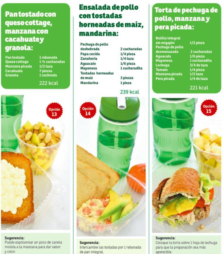 Comidas saludables menus pinterest comida - Menus para comidas familiares ...