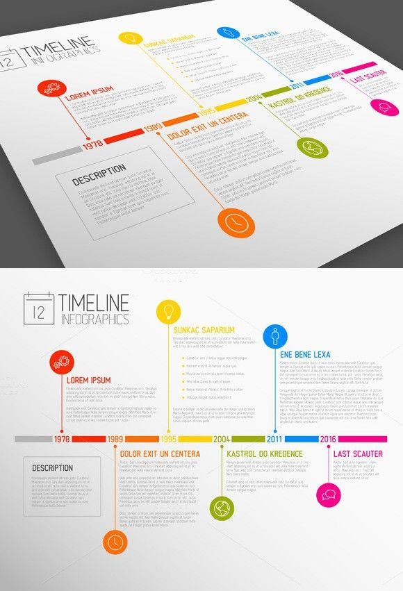 Vector Timeline Template | Timeline, Template and Presentation templates