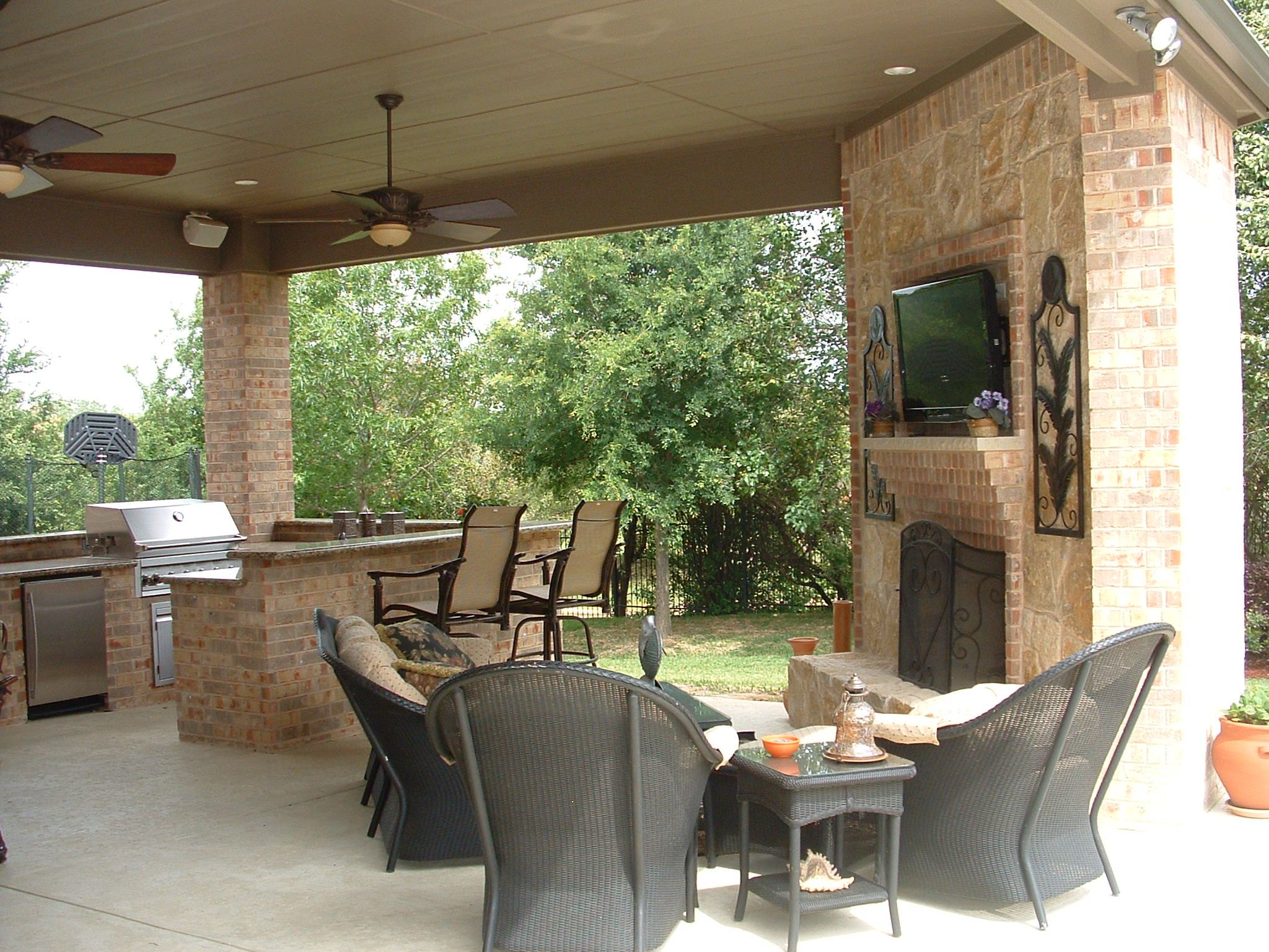 stone fireplace brick fireplace outdoor living area for the