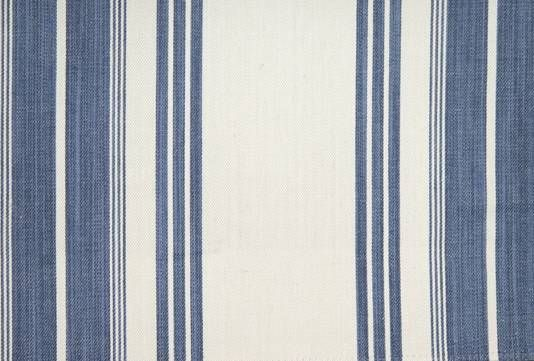 Breock Striped Fabric Navy William Yeoward Polperro Collection