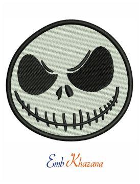 Jack Skellington Head Embroidery Design Christmas Embroidery Designs Embroidery Designs Embroidery