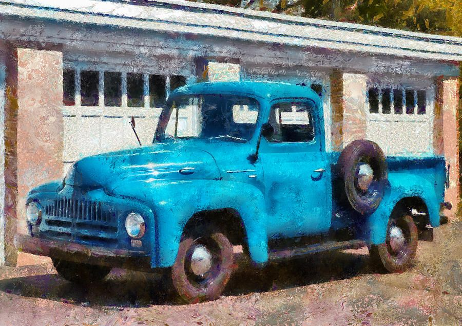 Car - Truck - An International Old Truck Photograph by Mike Savad ...