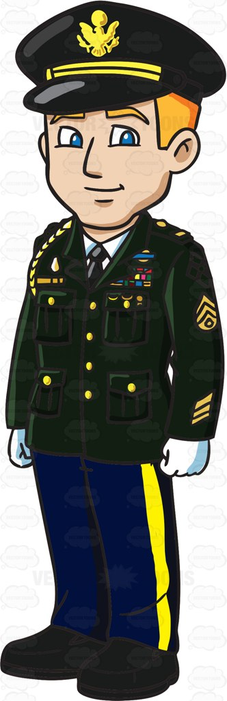 A Young Man Wearing A Us Army Service Dress Uniform | Products, A ...