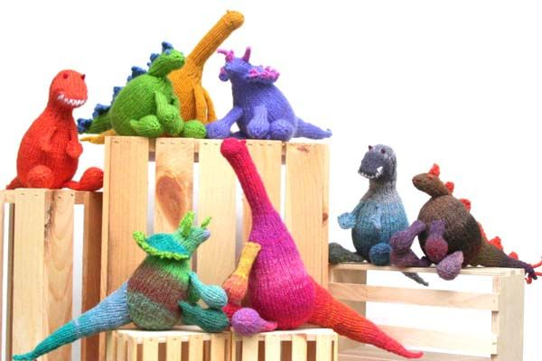 Knitted dinosaurs!