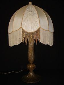 Vintage Large Luxury Lamp Shade Silk Ivory Fabric Fringed Beaded Circa 1940 S Luxury Lamps Lamp Shade Lamp