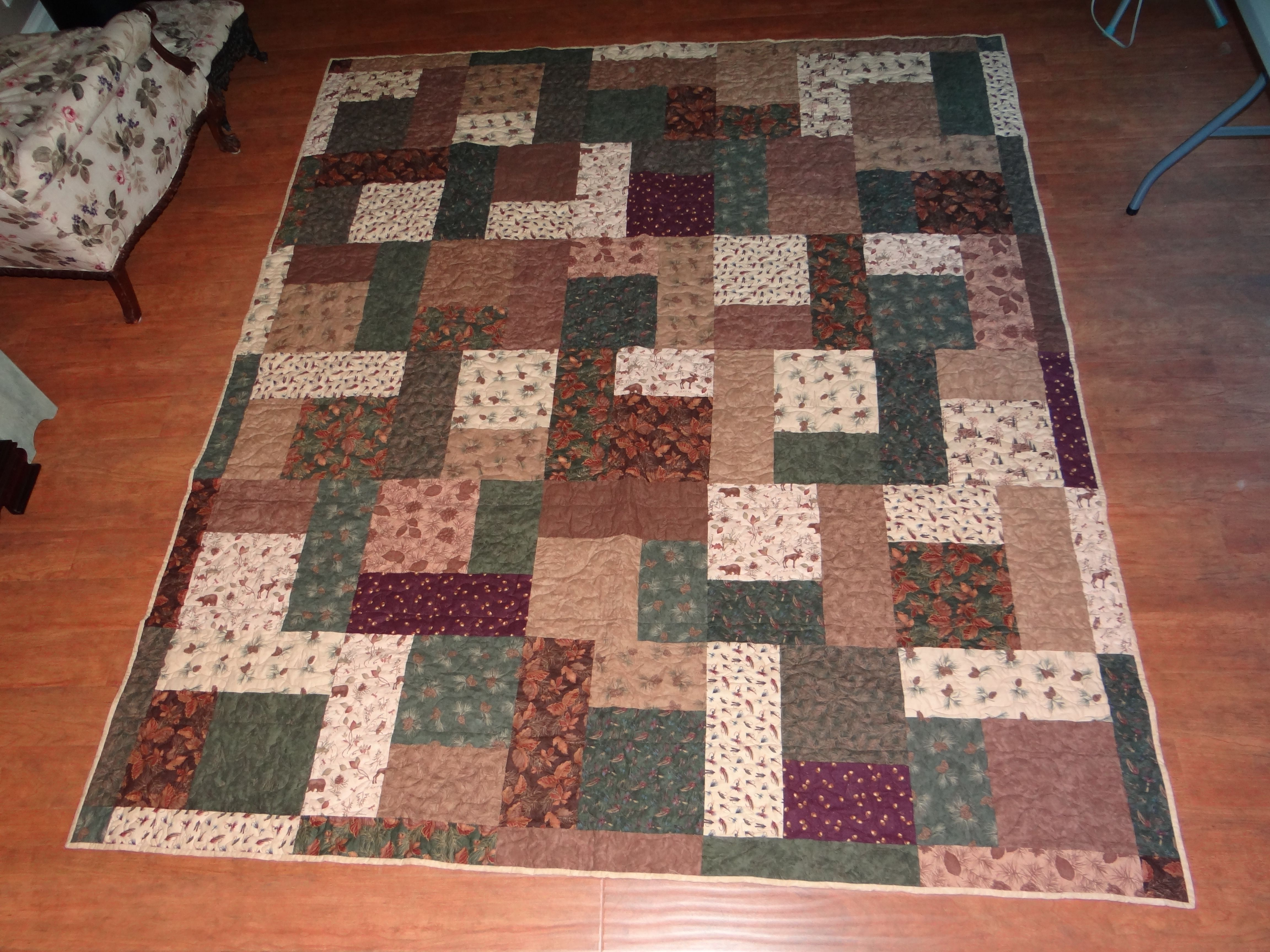 This Is The Quilt I Made For Mark To Take To Deer Camp It