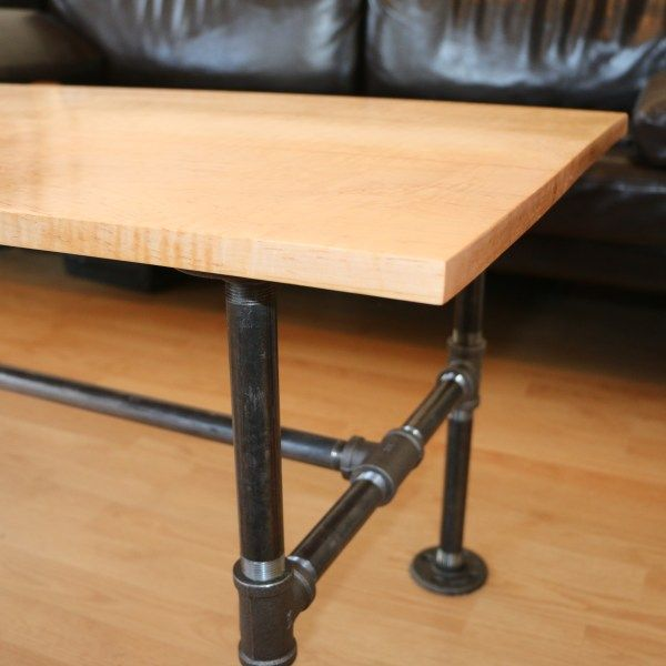 Black Pipe Coffee Table Diy: How To Build A Modern Black Pipe Coffee Table