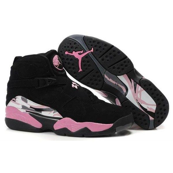 Women's Air Jordan 8 Black Pink | Jordan basketball shoes, Womens ...