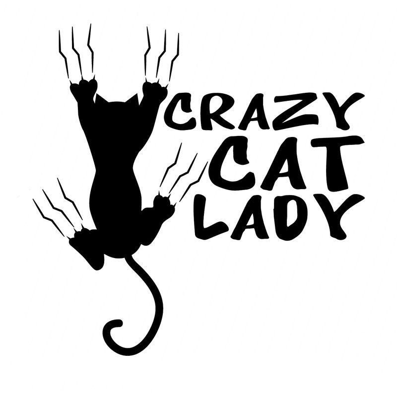 Wholesale PcspcsCMCM Crazy Cat Lady Vinyl Stickers - Vinyl decals for cars wholesale