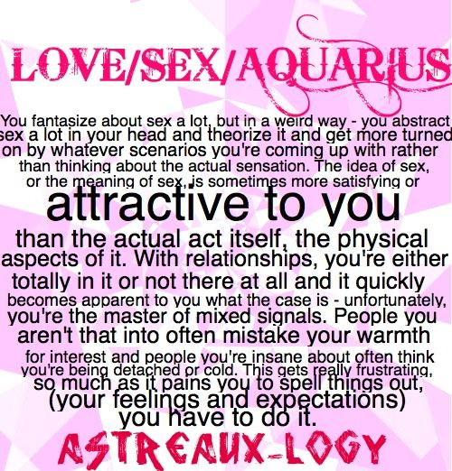 Aquarius woman pisces man sexually