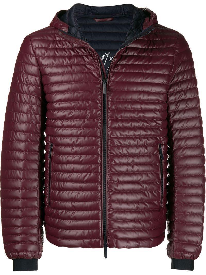 Emporio Armani Slim Fit Puffer Jacket In 0356 Bordeaux Modesens Designer Jackets For Men Armani Puffer Jacket Mens Jacket Black [ 1067 x 800 Pixel ]