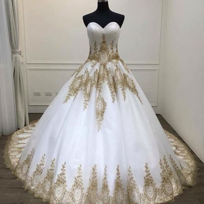 Unique White Tulle Vintage Sweetheart Formal Prom Dress With Applique from Sweetheart Dress -   19 dress Quinceanera gold ideas