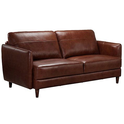 John Lewis Hoxton Small Leather Sofa Bonanza Chestnut Small Leather Sofa Leather Sofa Large Leather Sofas