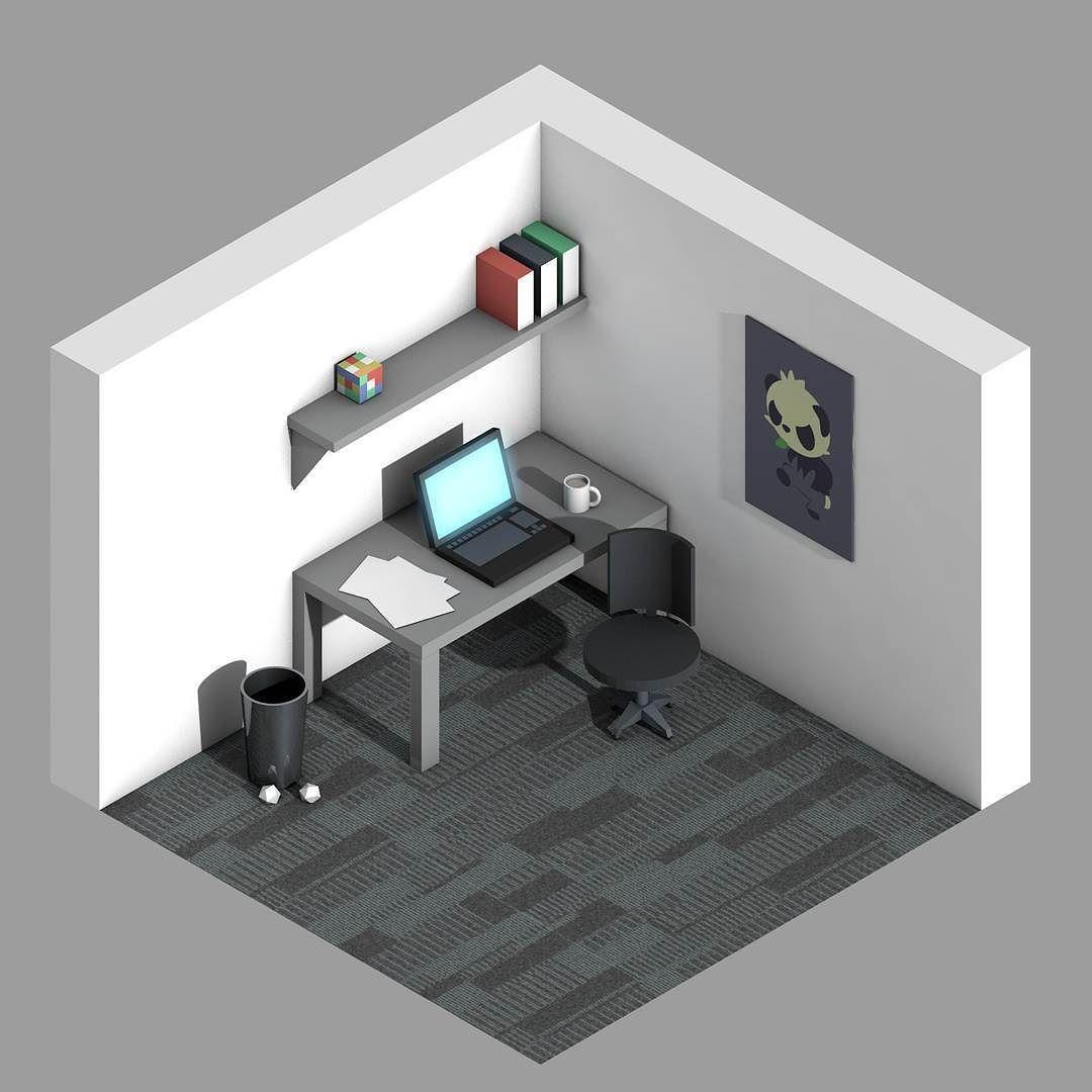 u0026quot isometric office u0026quot           c4d  cinema4d  isometric