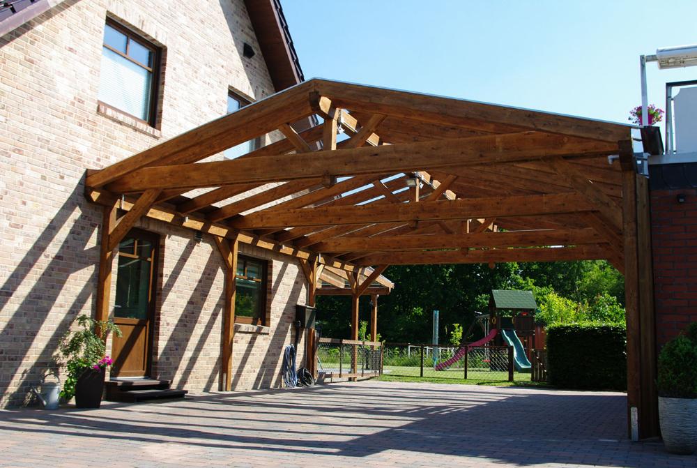 Satteldachcarport aus Holz online konfigurieren und