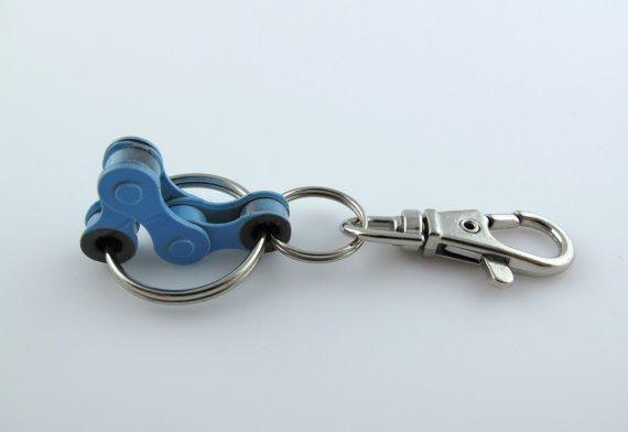 Blue Bike Chain Fidget Keychain Busy The Hands To By Fidgetclub
