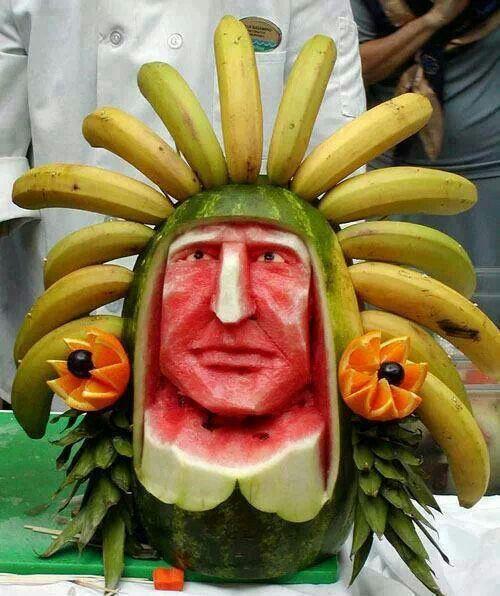 Carved fruit creation