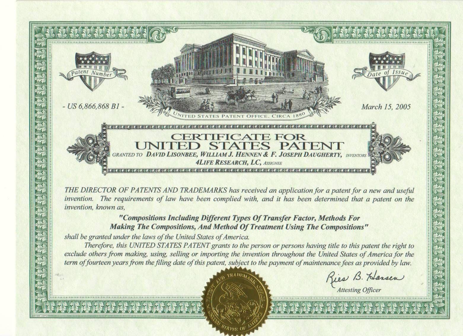 Winners Life Senarai Harga Produk Life Sijil Pengesahan Halal - Patent certificate template