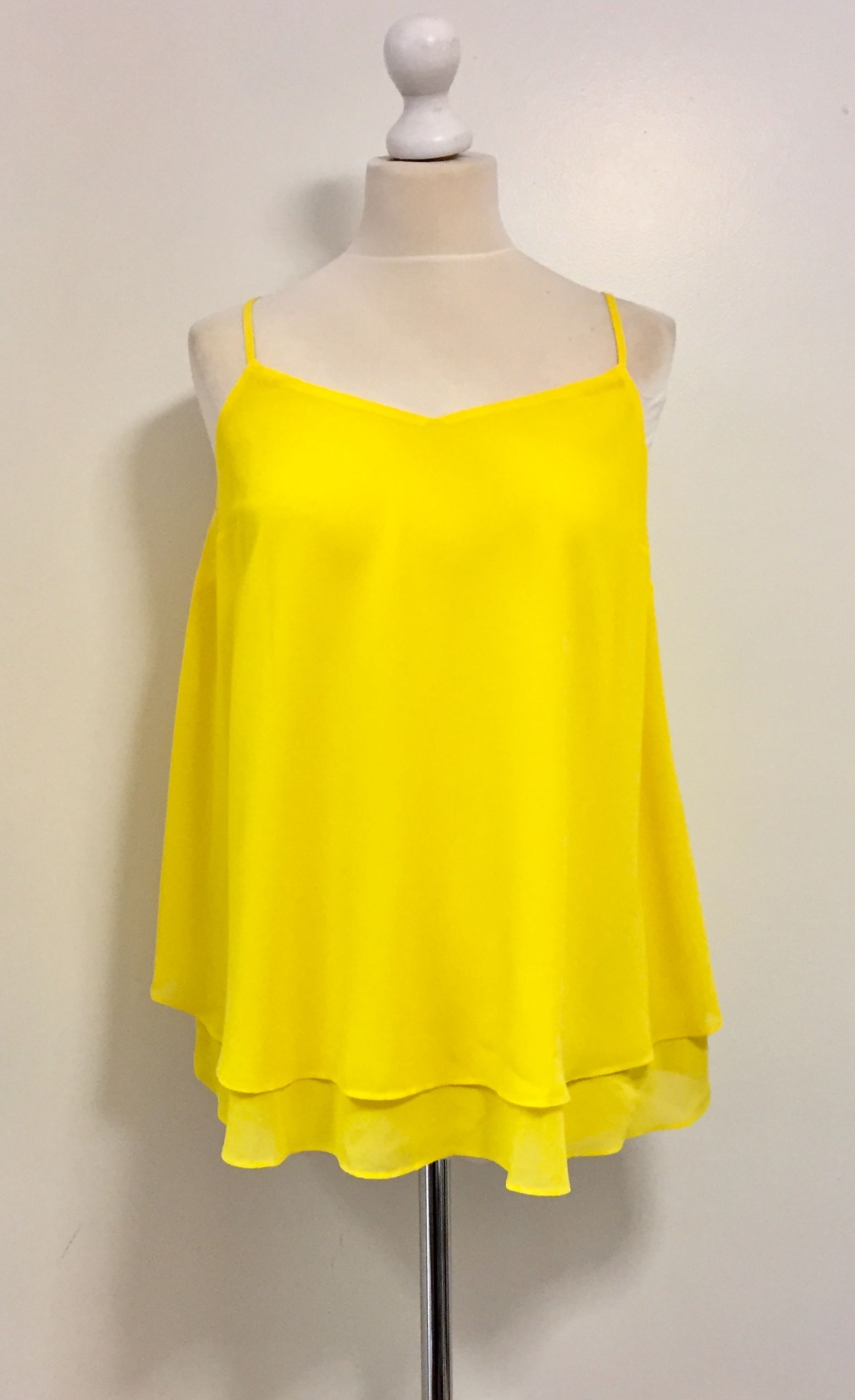 NEW LOOK Bright Yellow Maternity Camisole Top NWOT