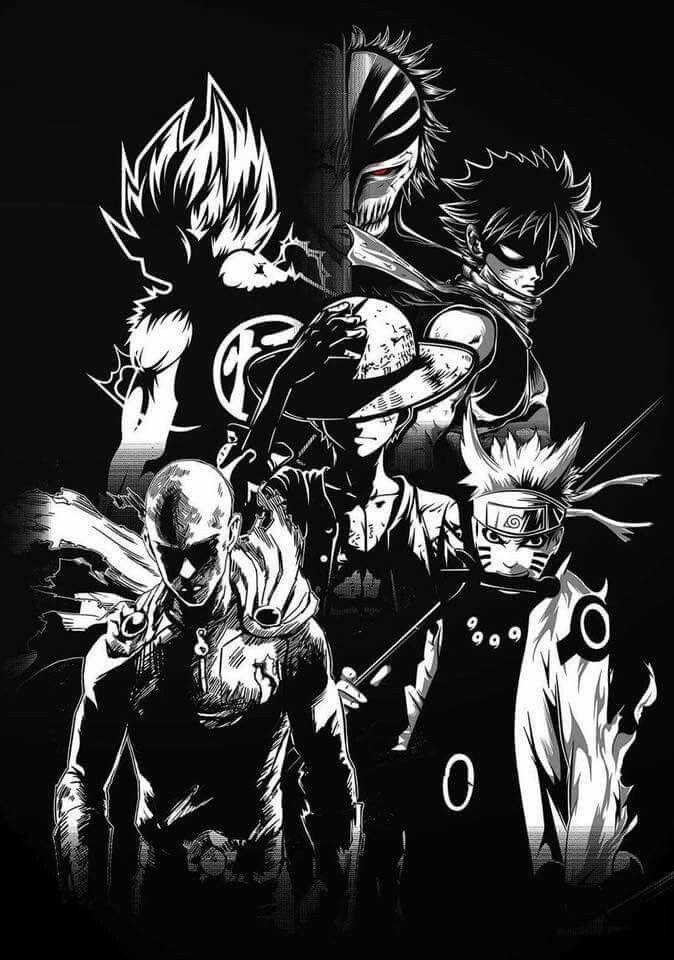 Naruto Saitama Luffy Natsu Goku Et Kurosaki Naruto Shippuden One Punch Man One Pi Fond D Ecran Dessin Tatouages D Anime Fond D Ecran Telephone Manga