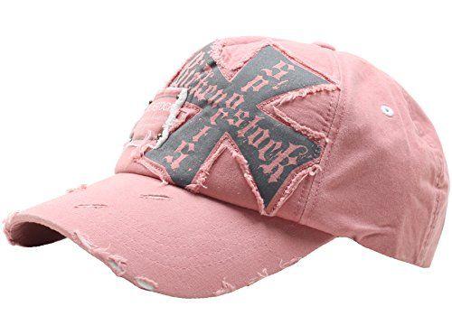 b19a95bce6d Raon B24 Best Unisex Vintage Look Hat Cross Emblem Baseba... https ...