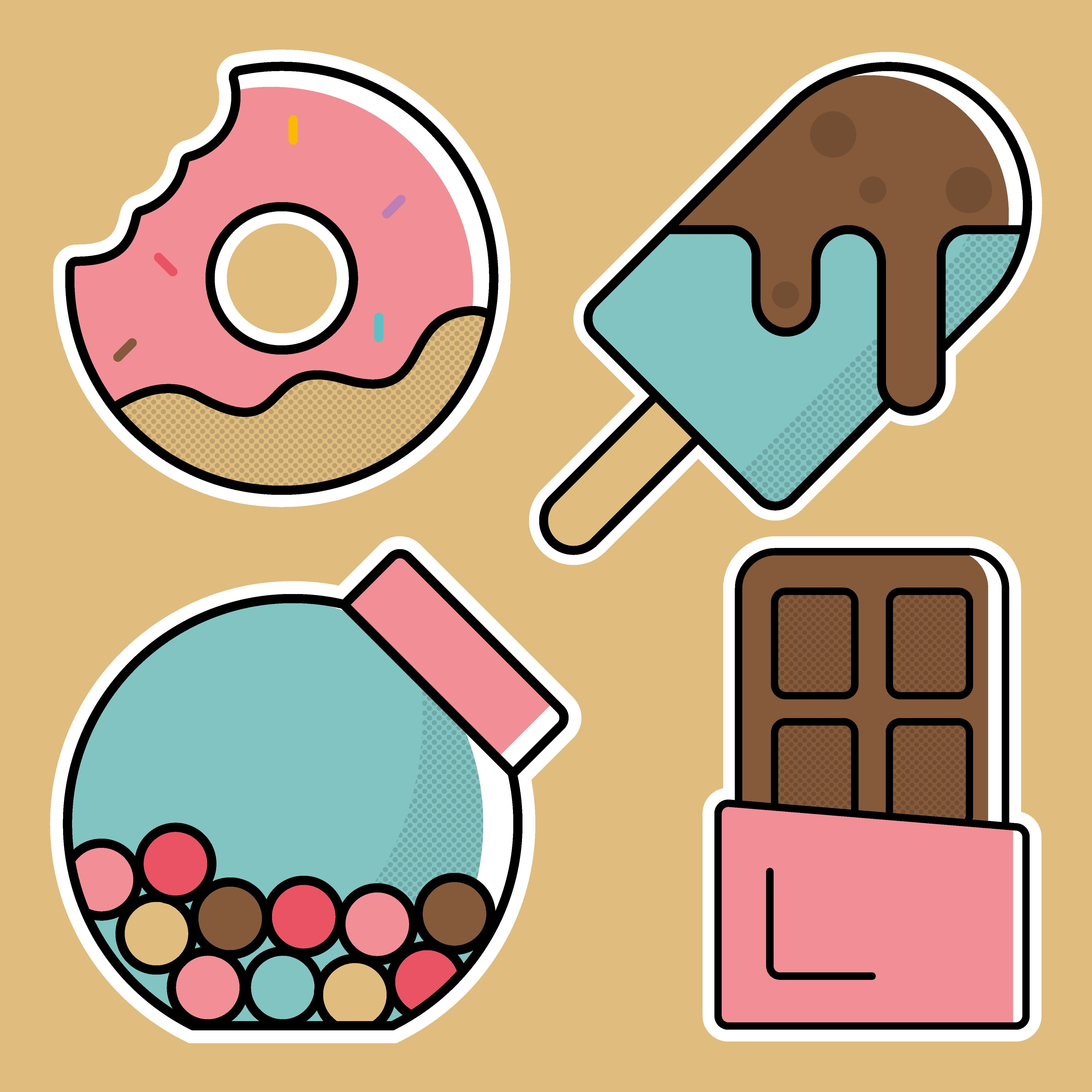 Candy Vector Clipart Commercial Use Sweets Clip Art Set Candy