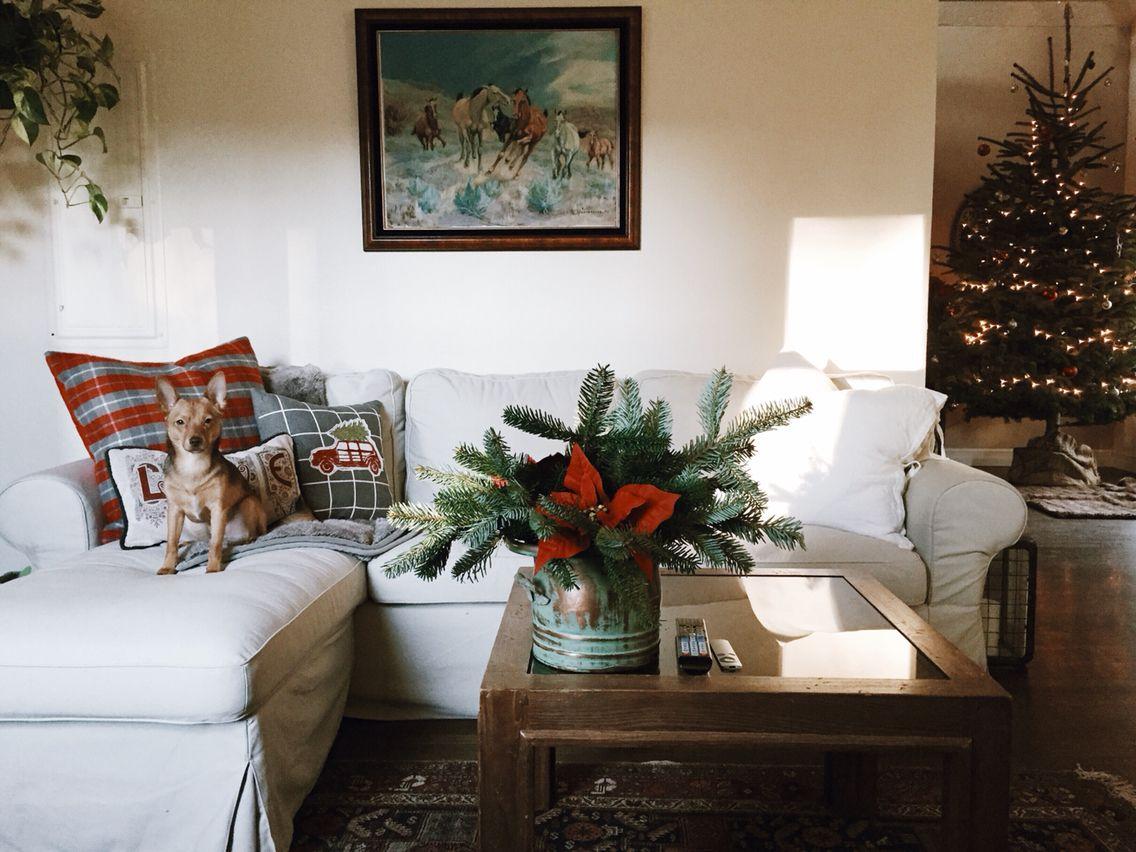 boho rustic bohemian farmhouse decor christmas holiday home tour