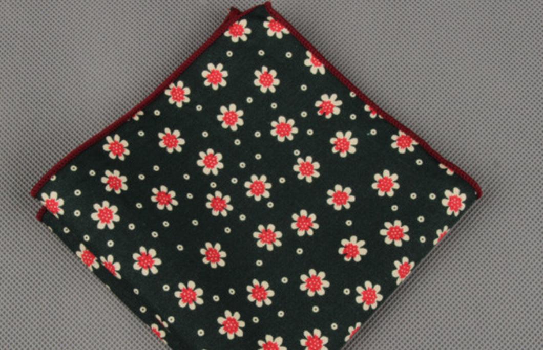 Fashion Men/'s Handkerchief Pocket Square Polka Dot Cotton Suit Hankies Wedding