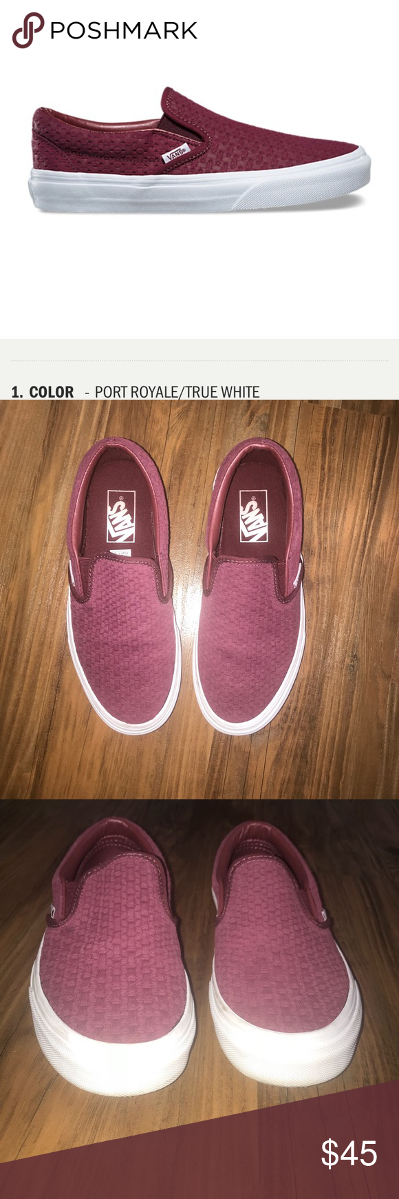 9373d8b8a6 Vans SUEDE EMBOSSED WEAVE SLIP-ON Pre owned