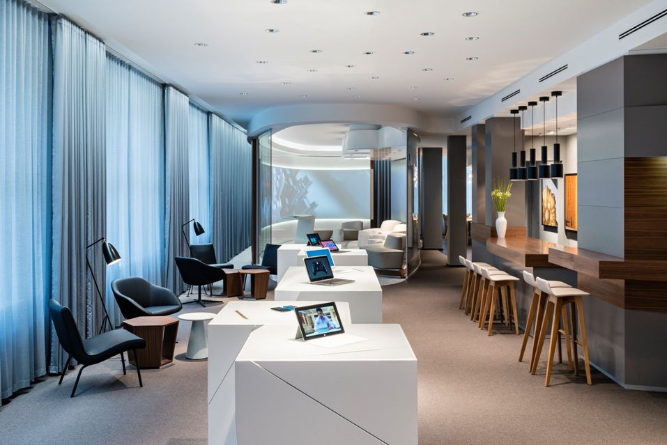 Inside the sleek new Microsoft office in Berlin\u0027s Unter den Linden - innovatives interieur design microsoft
