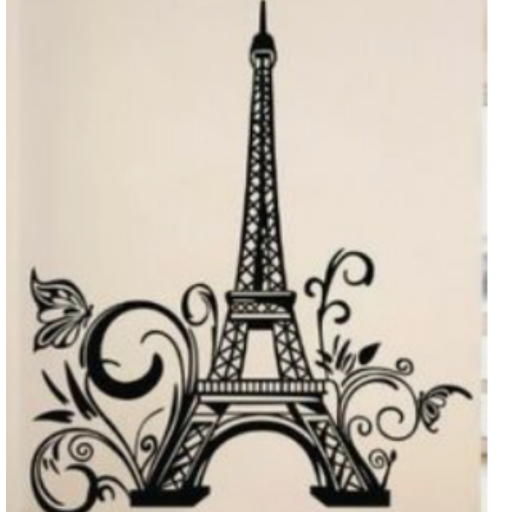 Girls Wallpaper Decals With Eifle Tower Sketch From Sony Ravali In 2019 Torre Eiffel Dibujo