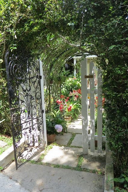 A gated entryway, as seen on the set of Indian Summers   Courtesy of Rebecca Eaton for MASTERPIECE