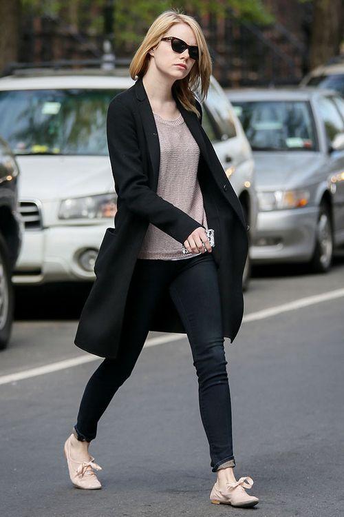 emma stone street style celebrity fashion pinterest