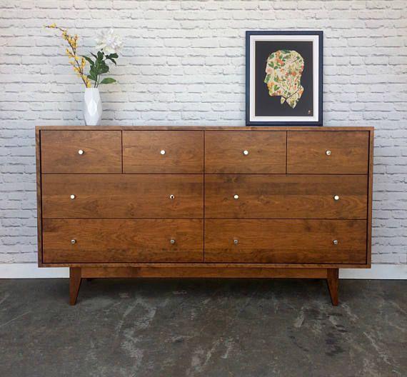 Best Dumont Dresser Solid Cherry Teak Stain Teak Wood 640 x 480