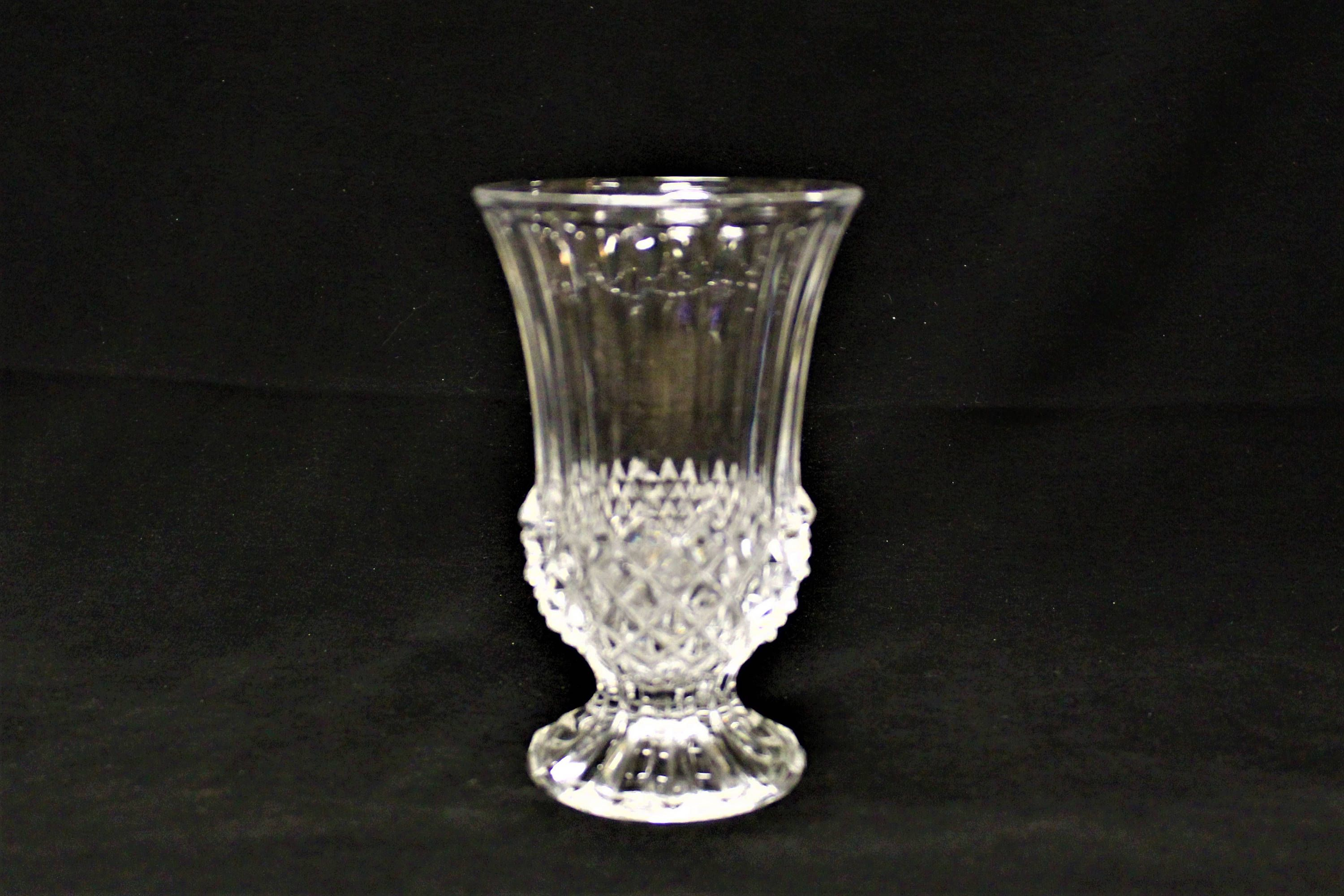 Vintage small cristal d arques durand longchamp pattern footed vintage small cristal d arques durand longchamp pattern footed bud vase 4 34 reviewsmspy