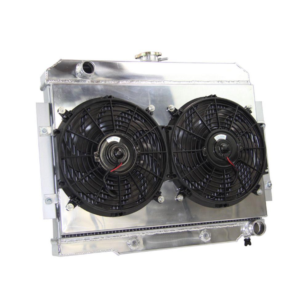 3 Row Radiatorshroud Fan For 72 86 Jeep Cj5 Ci6 Cj7 Chevy Small Block Swap D Jeep Cj5 Aluminum Radiator Jeep Cj6