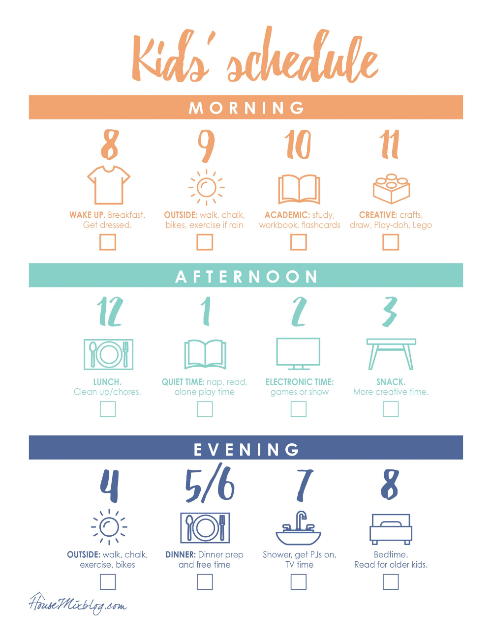 Photo of At home kid schedule printable