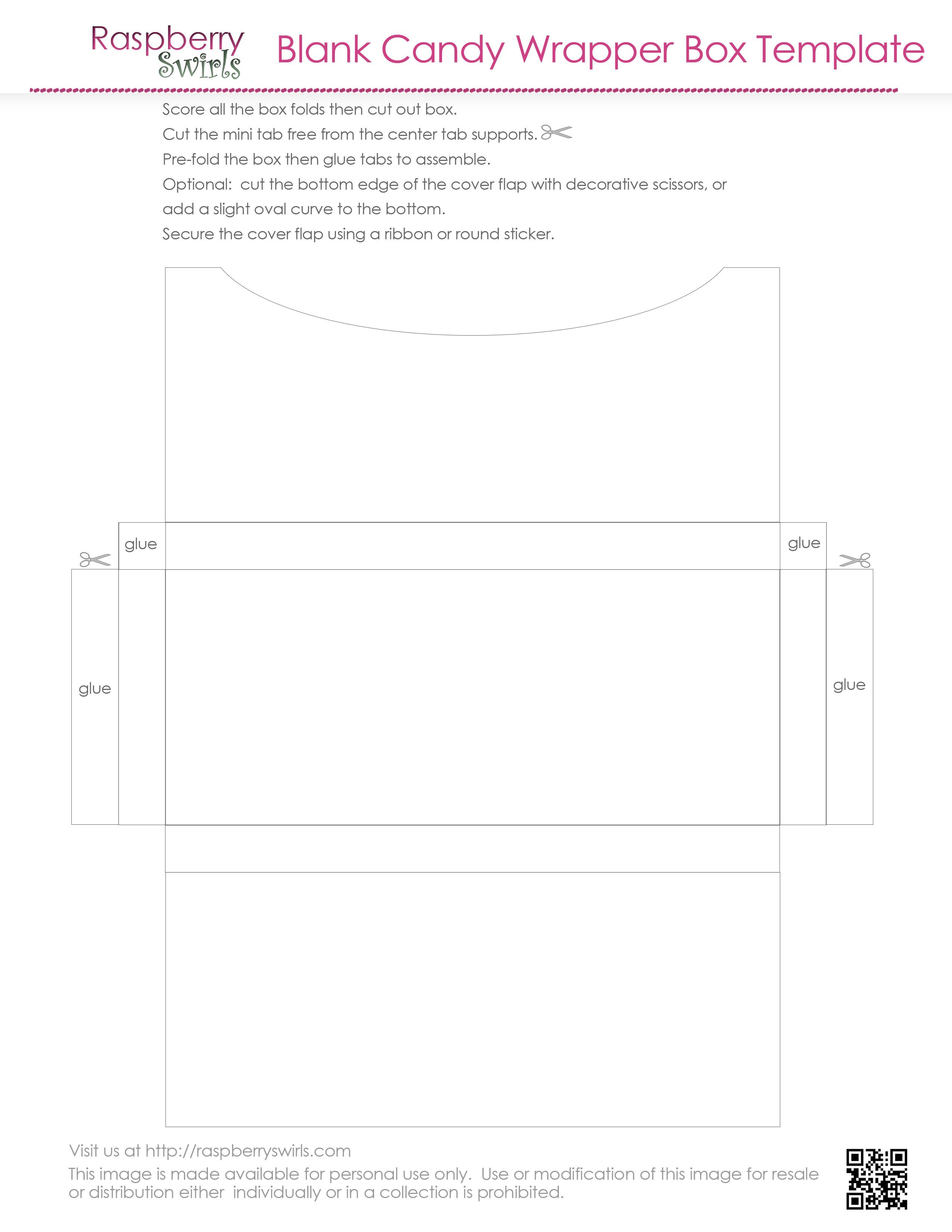 Candywrapperboxtemplate Jpg 2 550 3 300 Pixels Chocolate Candy