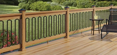 Metal Railings For Decks And Glass Balusters At Deckorators